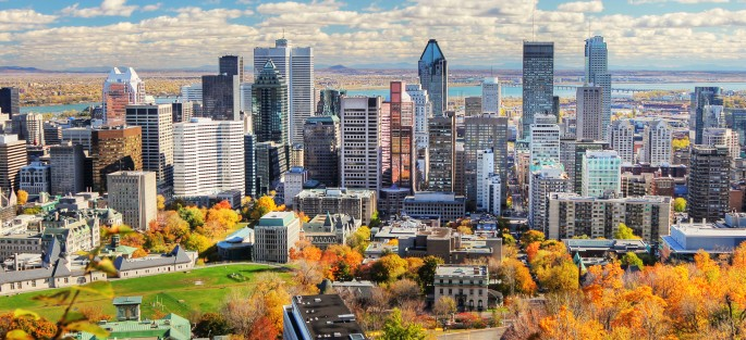 Autumn Colors in Montreal City
